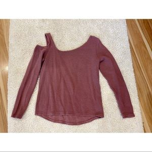 Feel The Piece Cold Shoulder Sweater Small/XS